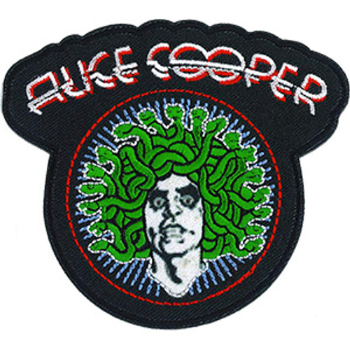 Alice Cooper Iron-On Patch Medusa Logo