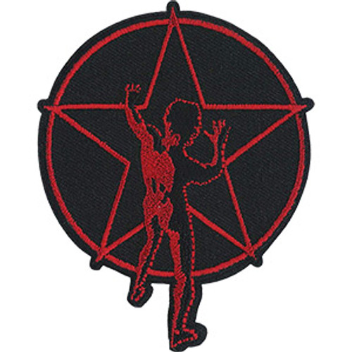 Rush Iron-On Patch Round Red Starman
