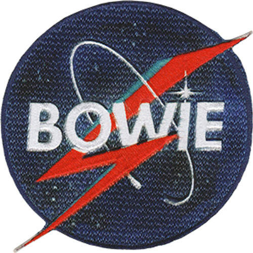 David Bowie Iron-On Patch Round Nasa Bolt Logo