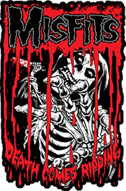 Misfits Iron-On Patch Death Comes Ripping