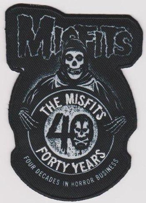 Misfits Iron-On Patch Four Decades In Horror Business