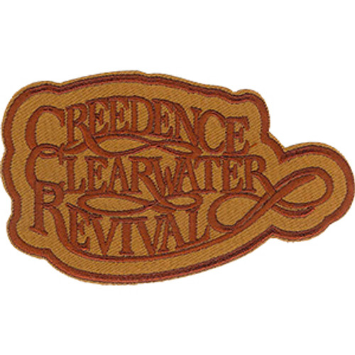 Creedence Clearwater Revival Iron-On Patch Brown Letters Logo