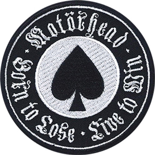 Motorhead Iron-On Patch Round Ace Of Spades Logo
