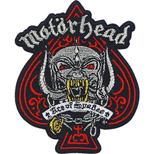 Motorhead Iron-On Patch Red Ace Of Spades Logo