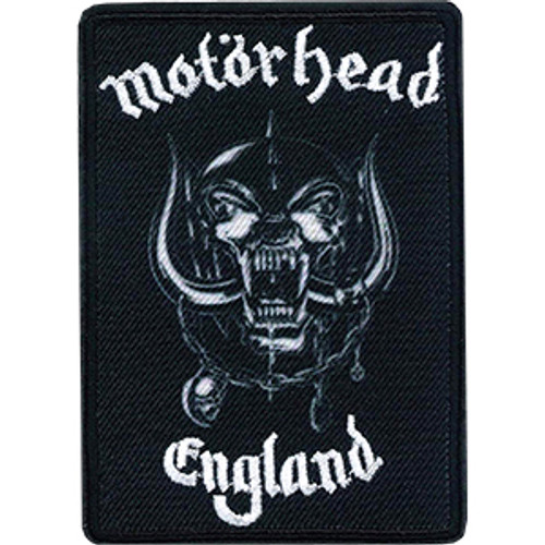 Motorhead Iron-On Patch Rectangle England Warpig Logo