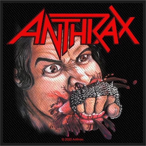 Anthrax Sew On Patch Fistful Of Metal Logo