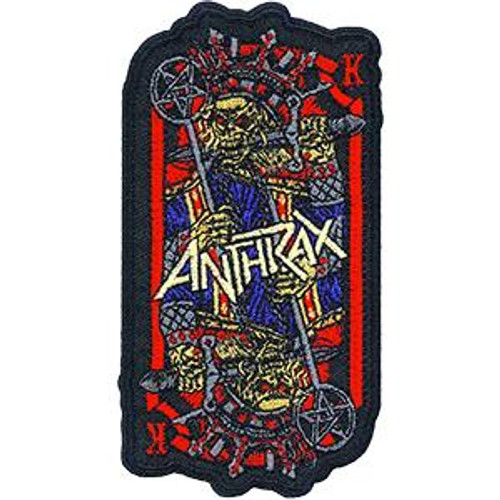 Anthrax Iron-On Patch Evil King Logo