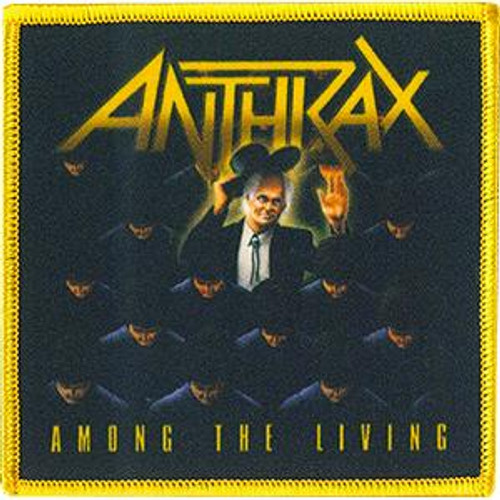 Anthrax Iron-On Patch Among The Living Logo