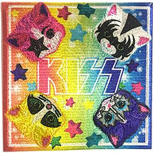 Kiss Iron-On Patch Kittens Logo