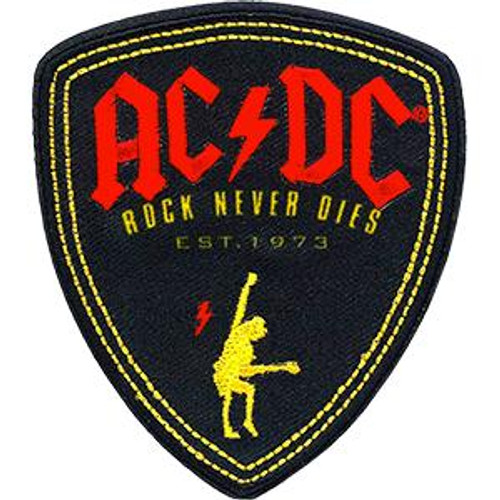 AC/DC Iron-On Patch Rock Never Dies Logo