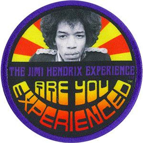 Jimi Hendrix Iron-On Patch Round Are You Experienced