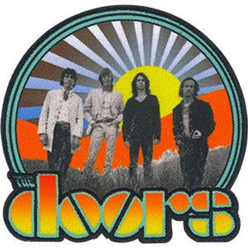 The Doors Iron-On Patch Round Waiting for the Sun
