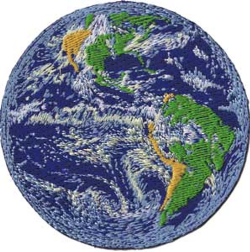 Planet Earth Iron-On Patch Round