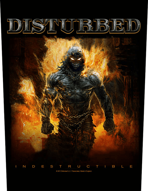 Disturbed Sew On Canvas Back Patch Indestructible Logo
