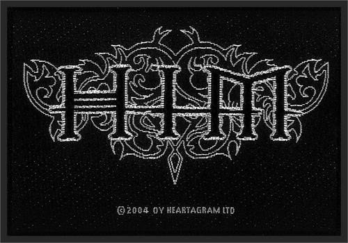 HIM Sew On Patch White Letters Logo