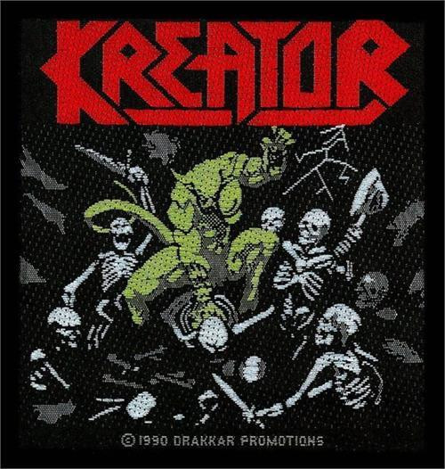 Kreator Sew On Patch Pleasure To Kill Logo