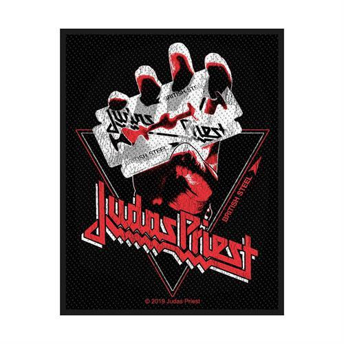Judas Priest Sew On Patch British Steel Vintage Style