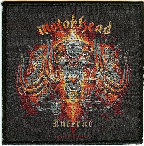 Motorhead Sew On Patch Inferno Logo