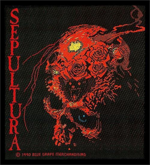 Sepultura Sew On Patch Skull Beneath The Remains