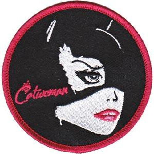 Catwoman Iron-On Patch Round Face Logo