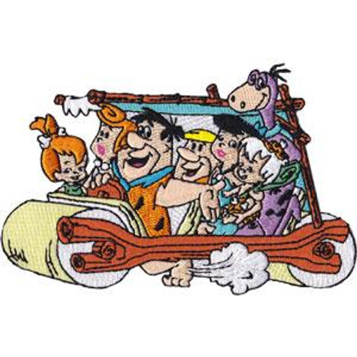Flintstones Iron-On Patch Family Car