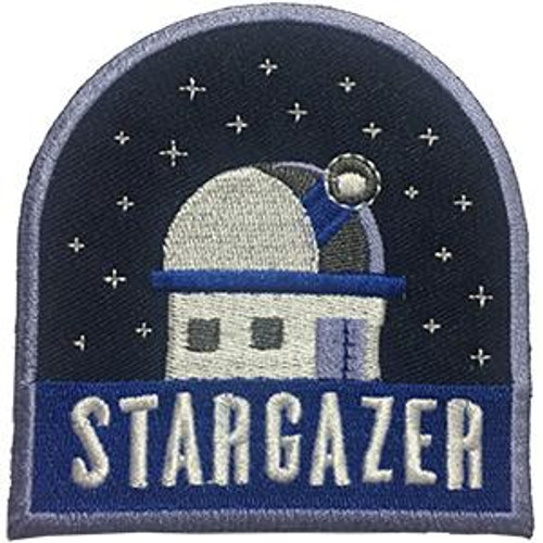 Stargazer Iron-On Patch Observatory Logo