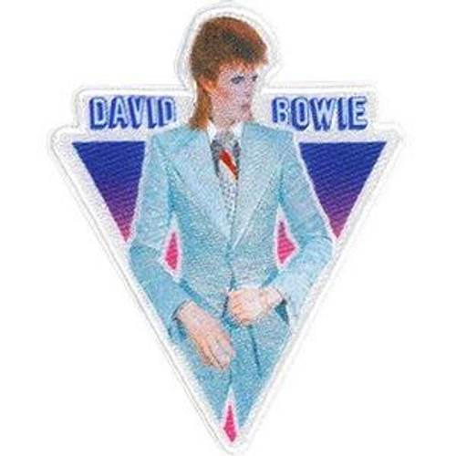 David Bowie Iron-On Patch Blue Suit Triangle Logo