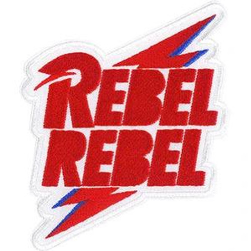 David Bowie Iron-On Patch Rebel Rebel Bolt Logo