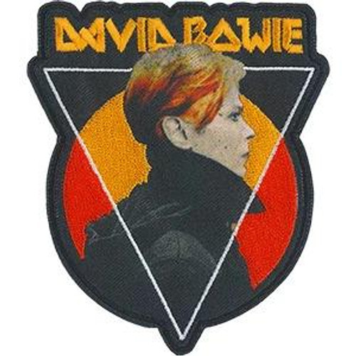 David Bowie Iron-On Patch Triangle Sun Logo