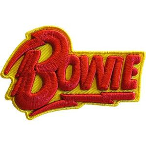 David Bowie Iron-On Patch 3D Letters Logo