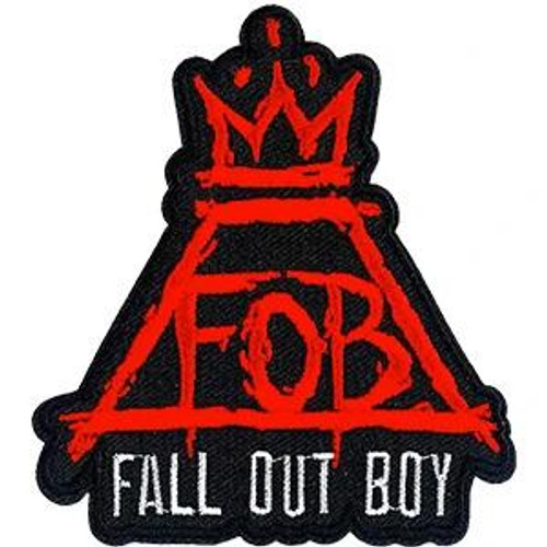Fall Out Boy Iron-On Patch Red Crown FOB Logo