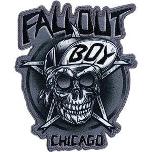 Fall Out Boy Iron-On Patch Chicago Skull Logo