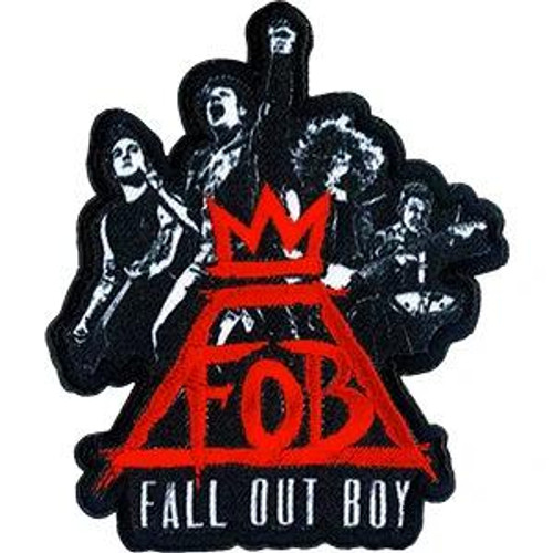 Fall Out Boy Iron-On Patch Group Crown Logo