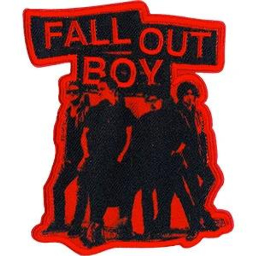 Fall Out Boy Iron-On Patch Red Stencil Group Logo