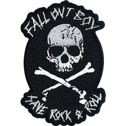 Fall Out Boy Iron-On Patch Rock And Roll Skull Logo