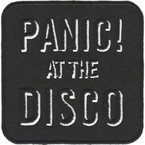Panic! At The Disco Iron-On Patch Square White Letters Logo