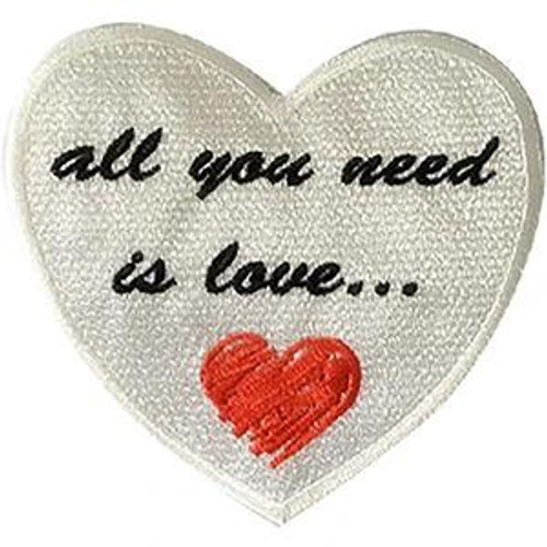 The Beatles Iron-On Patch All You Need Is Love Heart Logo
