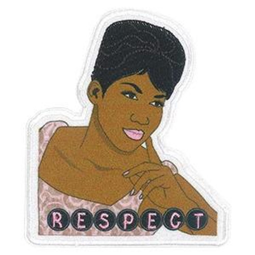 Aretha Franklin Iron-On Patch Respect Logo