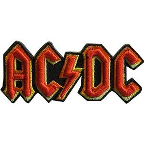 AC/DC Iron-On Patch 3D Letters Logo