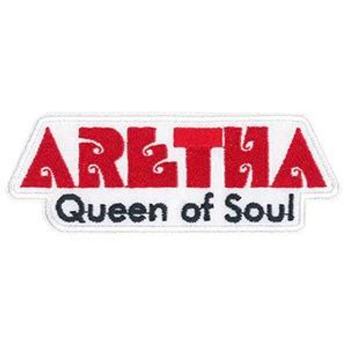 Aretha Franklin Iron-On Patch Queen Of Soul Letters Logo