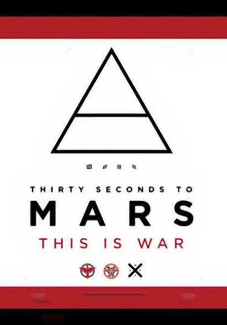 Thirty Seconds To Mars Poster Flag This Is War