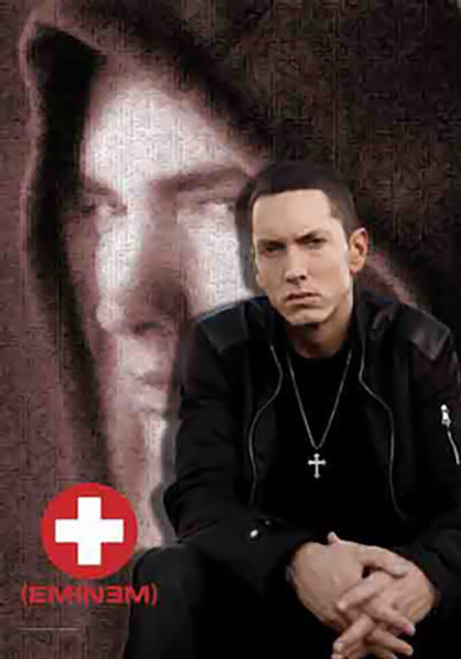 Eminem Poster Flag Sitting Photo
