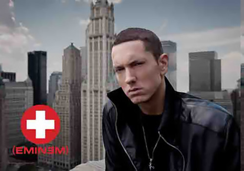 Eminem Poster Flag Skyline Photo