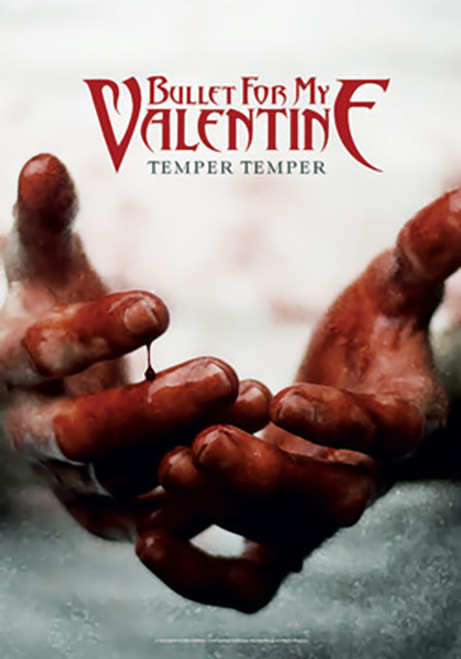 Bullet For My Valentine Poster Flag Temper Bloody Hands