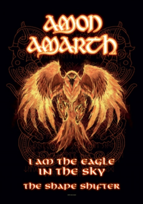 Amon Amarth Poster Flag Burning Eagle
