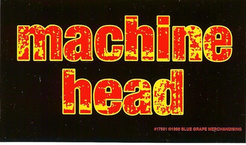 Machine Head Vinyl Sticker Flame Letters Logo