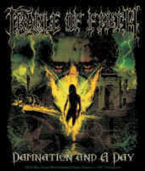 Cradle Of Filth Vinyl Sticker Damnation Logo
