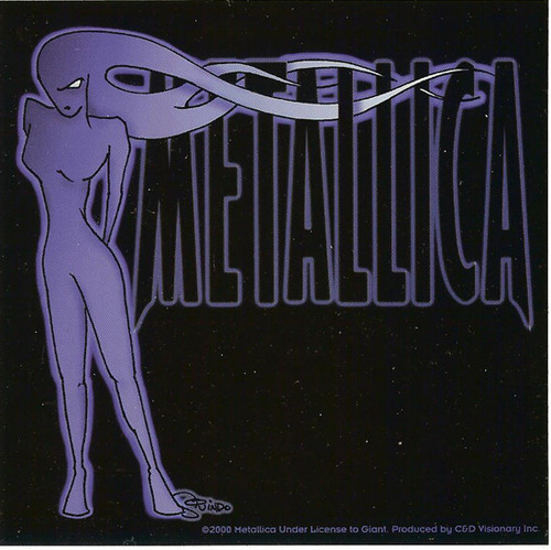 Metallica Vinyl Sticker Blue Girl Logo