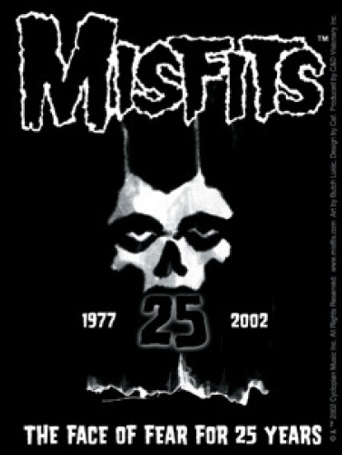 Misfits Vinyl Sticker 25 Years Skull Logo