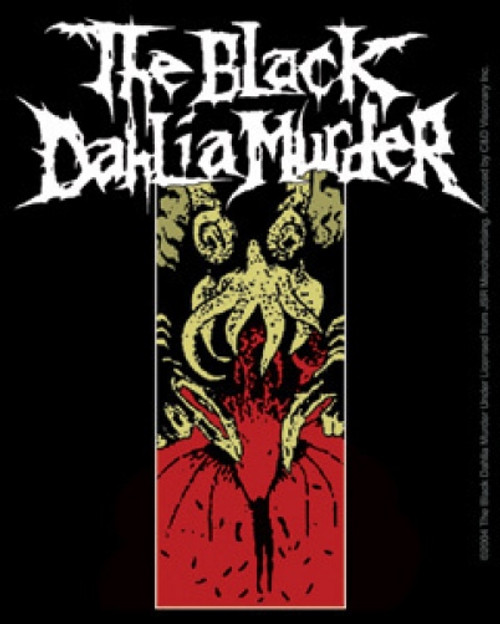 Black Dahlia Murder Vinyl Sticker Squid